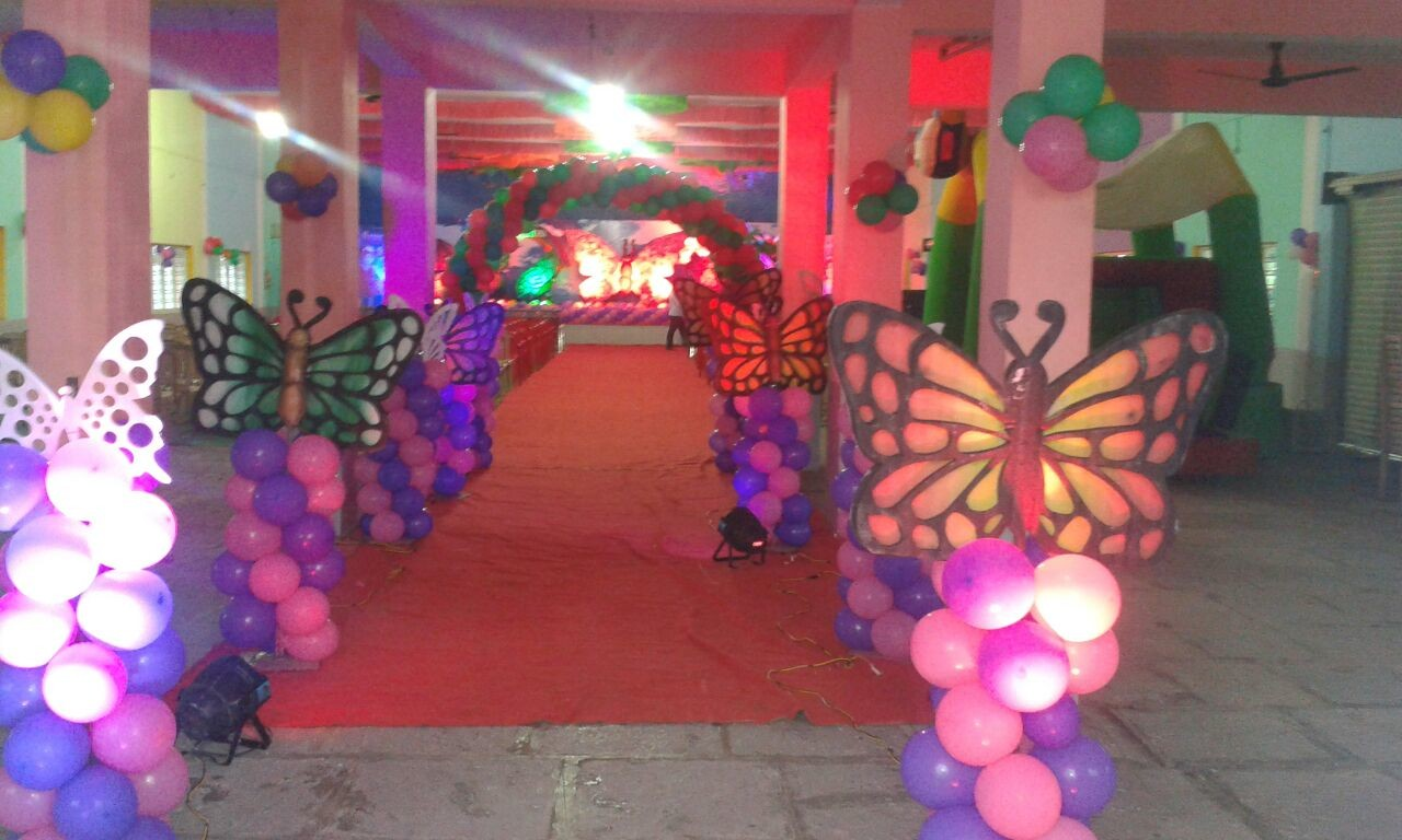 birthday party with stage decorations in warangal Hanmakonda
